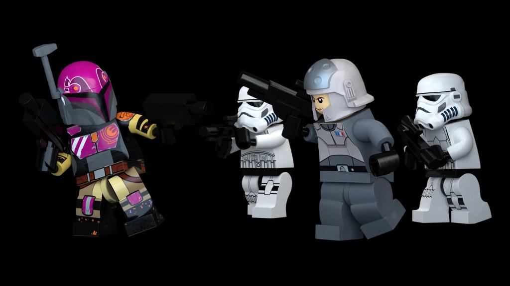 Star Wars Lego Rebel Figurines